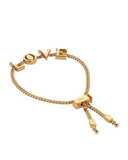 Chloé | Metallic Love Adjustable Bracelet | Lyst