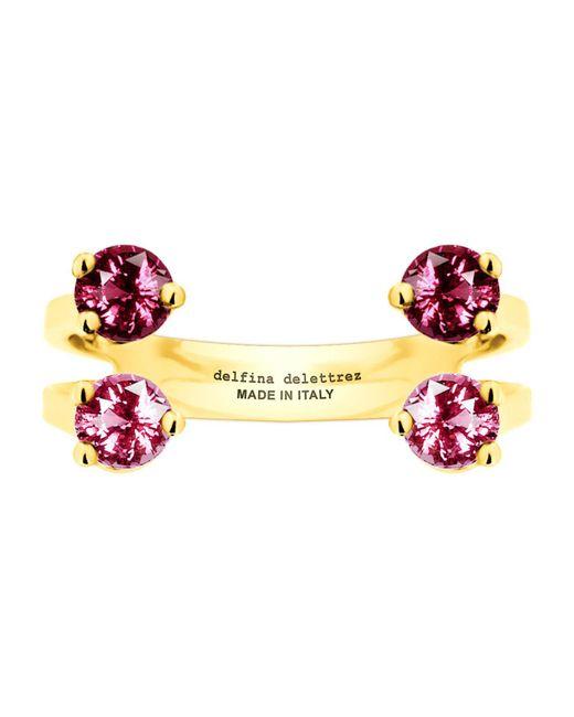 Delfina Delettrez | Pink 4 Dots Ring | Lyst