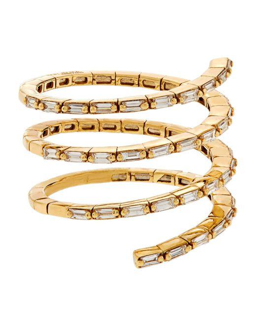 Suzanne Kalan | White Diamond Spiral Ring | Lyst