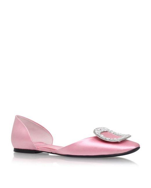Roger Vivier | Pink Chips Satin Ballet Flats | Lyst