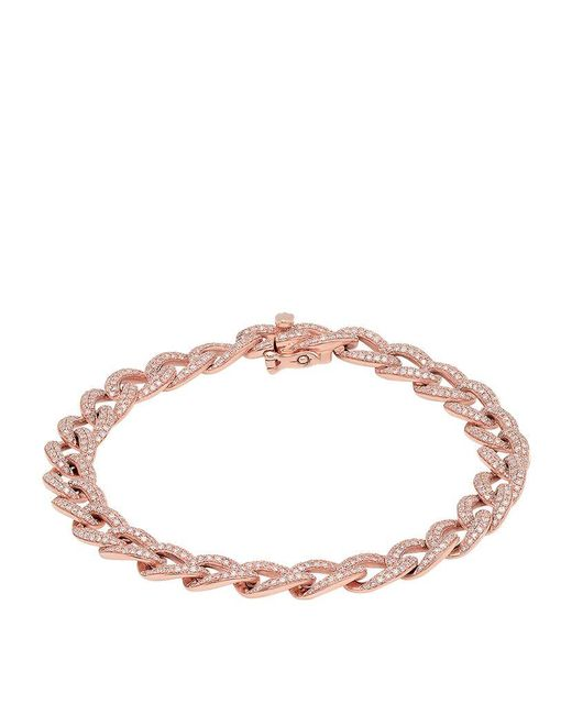 Kenza Lee | Pink Chain Link Bracelet | Lyst
