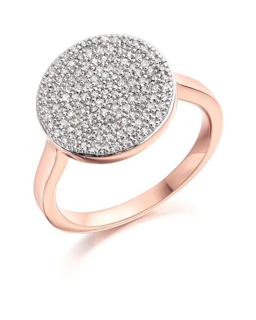 Monica Vinader | Metallic Ava Diamond Disc Ring | Lyst