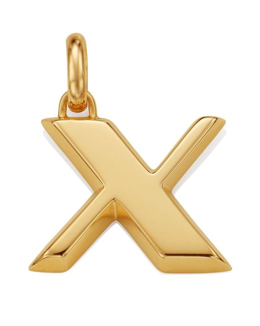 Monica Vinader | Metallic Gold Capital X Pendant | Lyst