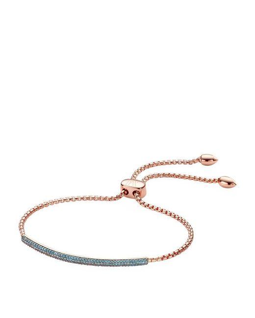 Monica Vinader | Pink 'fiji' Friendship Bracelet - Mink/ Gold | Lyst