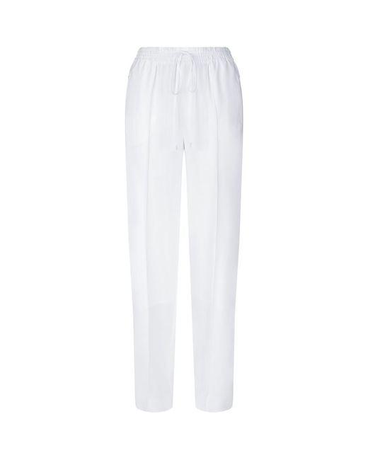 Chloé   White Cady Tie Waist Trousers   Lyst