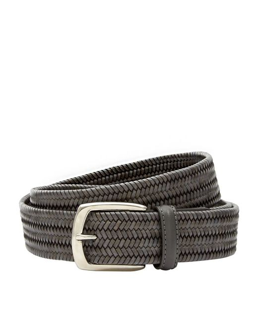 canali plaited leather belt in multicolour for lyst