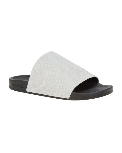 3cb07429d Lyst - adidas Originals Adilette Luxe Slides in Gray