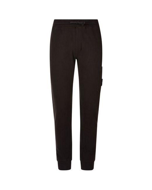 Stone Island | Black Slim Cuffed Sweatpants for Men | Lyst