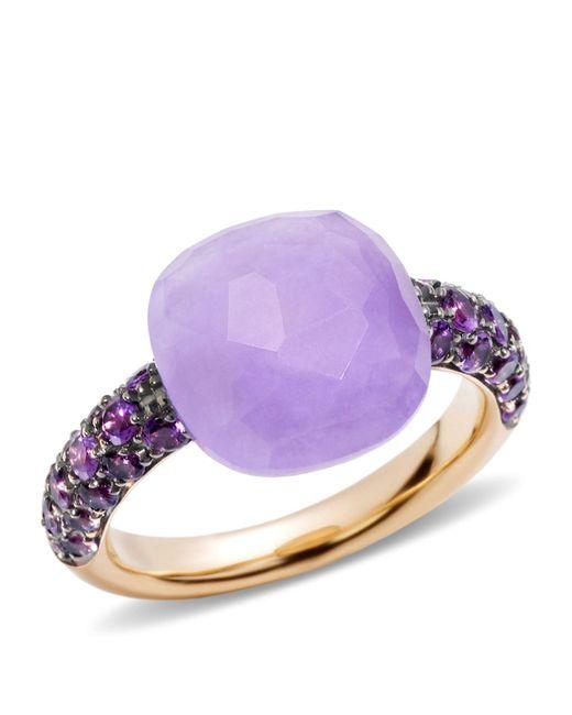 Pomellato | Pink Jade Rose Gold Capri Ring | Lyst