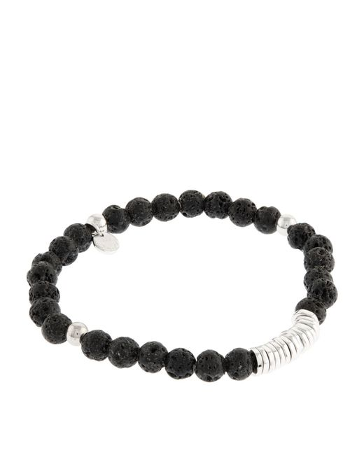 Tateossian | Black Disk Round Beaded Bracelet | Lyst