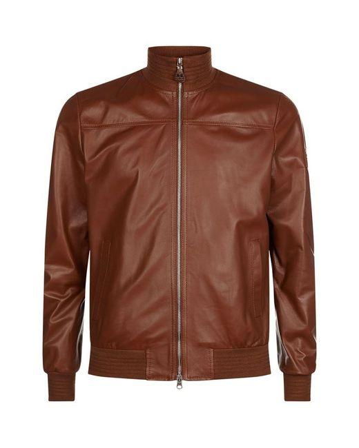 la martina leather jacket in brown for men lyst. Black Bedroom Furniture Sets. Home Design Ideas