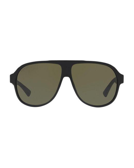 Gucci - Black Gg0009s Aviator Sunglasses - Lyst