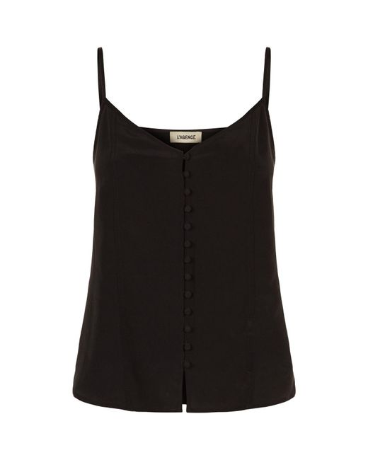 L'Agence - Black Emiliana Camisole Top - Lyst