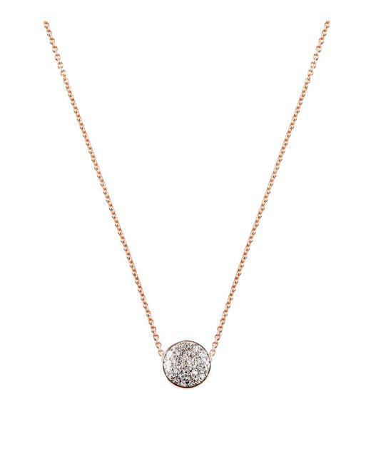 Monica Vinader - Pink Fiji Button Diamond Necklace - Lyst