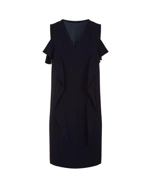 Elie Tahari - Blue Micaela Ruffle Shift Dress - Lyst