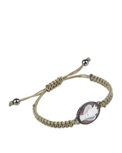 Amedeo - White King Cobra Macrame Bracelet for Men - Lyst