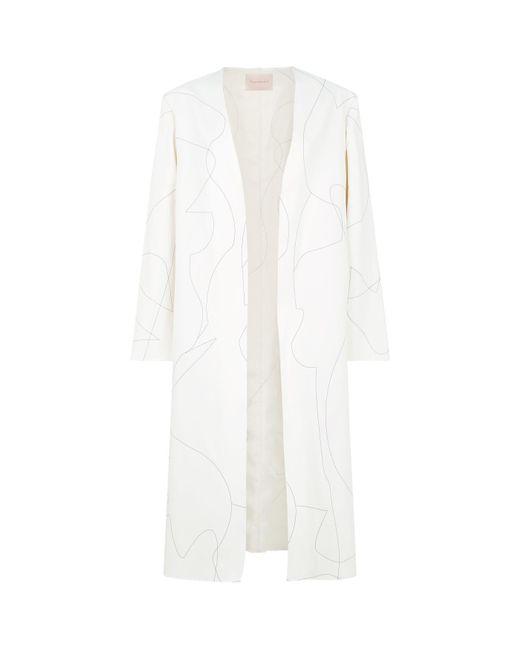 Roksanda - White Embroidered Coat - Lyst