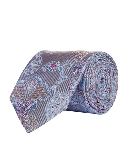 Eton of Sweden   Gray Large Paisley Tie for Men   Lyst