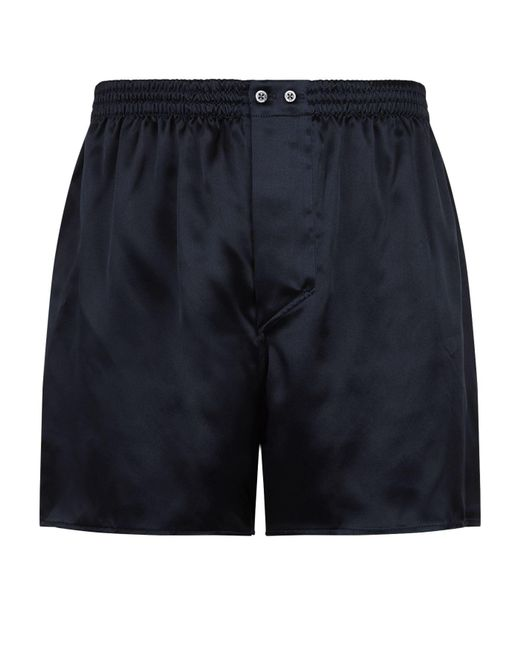 Zimmerli | Blue Silk Boxer Shorts for Men | Lyst