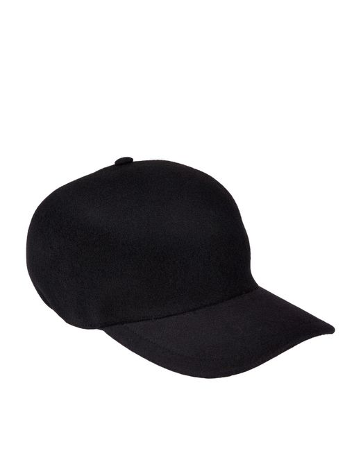 160c247637d Lyst - Burberry Men s Molded Wool Baseball Cap in Black for Men ...