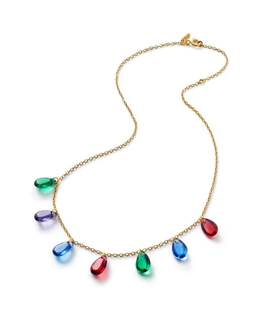 Baccarat - Multicolor Crystal Drops Of Colour Necklace - Lyst