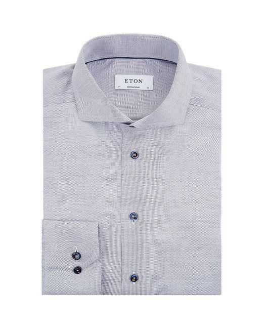 Eton of Sweden | Blue Contrast Piping Contemporary-fit Shirt for Men | Lyst