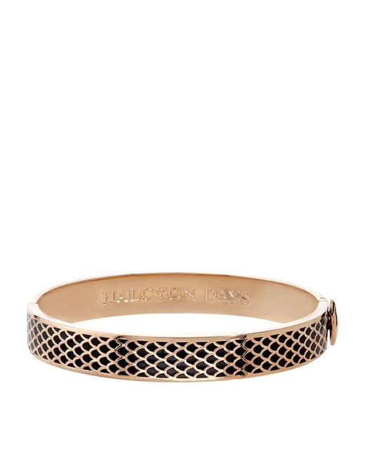 Halcyon Days - Black Rose Gold Salamander Bangle - Lyst