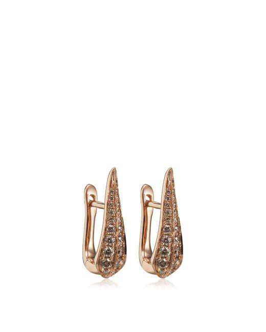 Annoushka - Metallic Rose Gold Diamond Hoop Earrings - Lyst