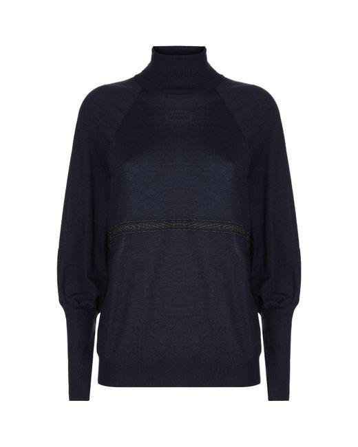 Brunello Cucinelli - Blue Monili Stripe Sweater - Lyst