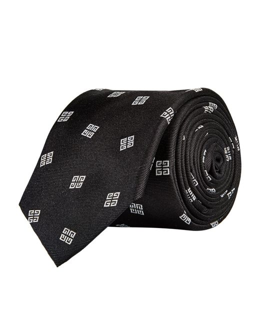 Givenchy - Black 4g Logo Tie for Men - Lyst