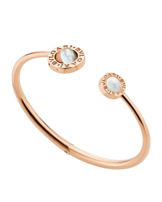 BVLGARI - Metallic Bulgari Bulgari Rose Gold Flip Bracelet - Lyst