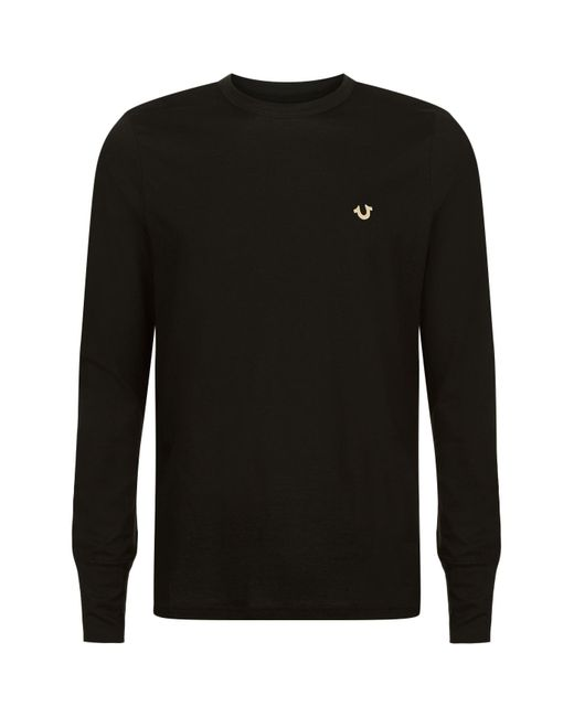 True Religion | Black Long Sleeve T-shirt for Men | Lyst