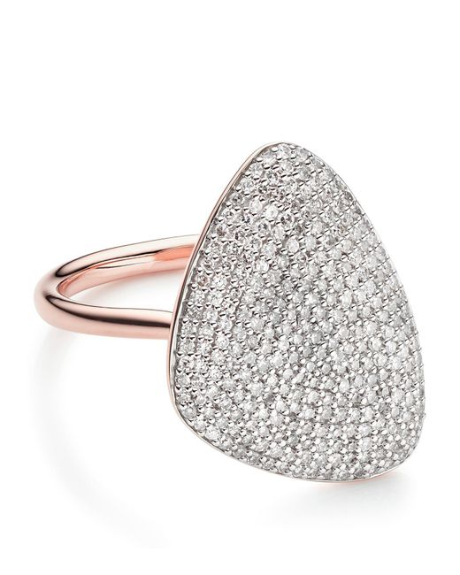 Monica Vinader | Metallic Nura Teardrop Diamond Ring | Lyst