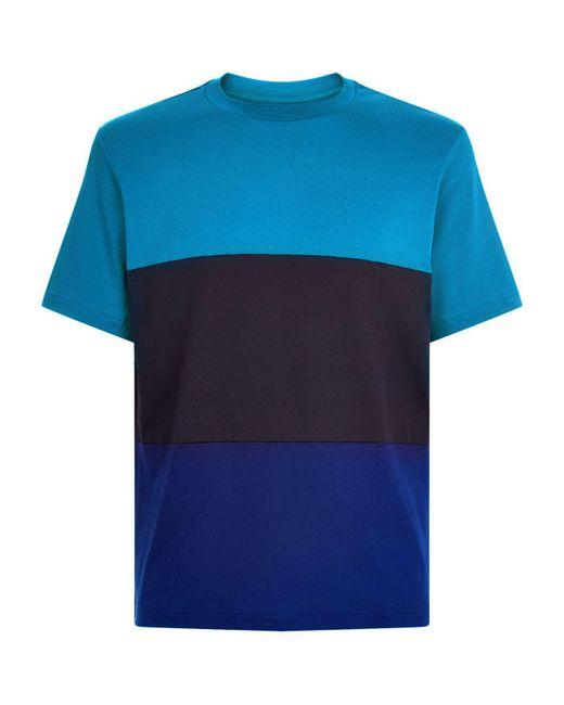Paul Smith | Blue Colour Block T-shirt for Men | Lyst