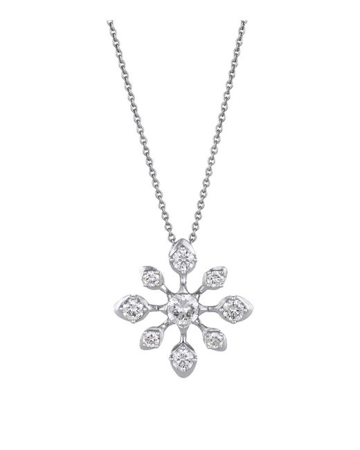 De Beers - Metallic White Gold And Diamond Star Pendant Necklace - Lyst