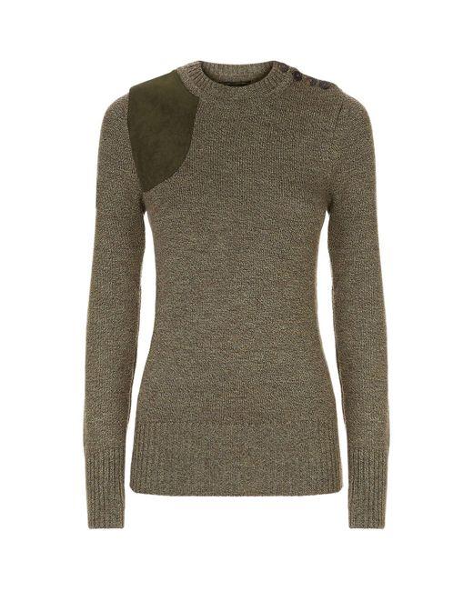 James Purdey & Sons - Green Merino Wool Shooting Sweater - Lyst