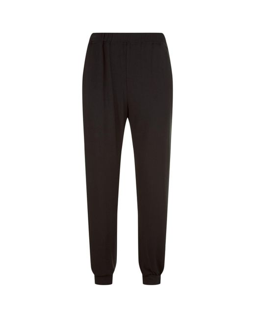 Homebody - Black Cuffed Lounge Trousers for Men - Lyst