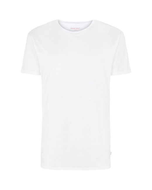 Derek Rose - White Lewis Cotton T-shirt for Men - Lyst