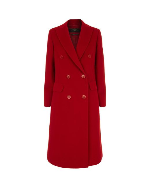 Weekend by Maxmara - Red Lillo Double Breast Wool Coat - Lyst