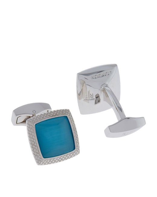Tateossian | Blue Square Optic Quadrato Cufflinks for Men | Lyst