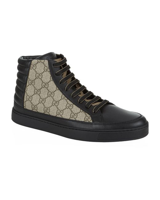Gucci - Orange GG Supreme High-top Sneakers for Men - Lyst