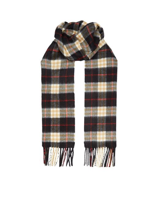 Burberry - Black Vintage Check Scarf for Men - Lyst