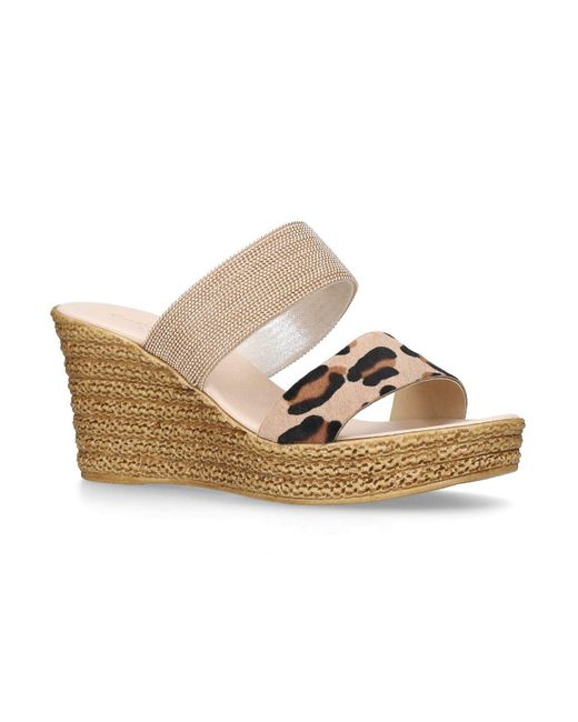 2555ac227352 Carvela Kurt Geiger Sybil Wedge Sandals in Metallic - Save ...