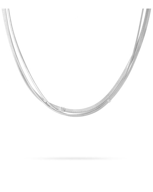 Marco Bicego | White Masai Triple Strand Diamond Necklace | Lyst