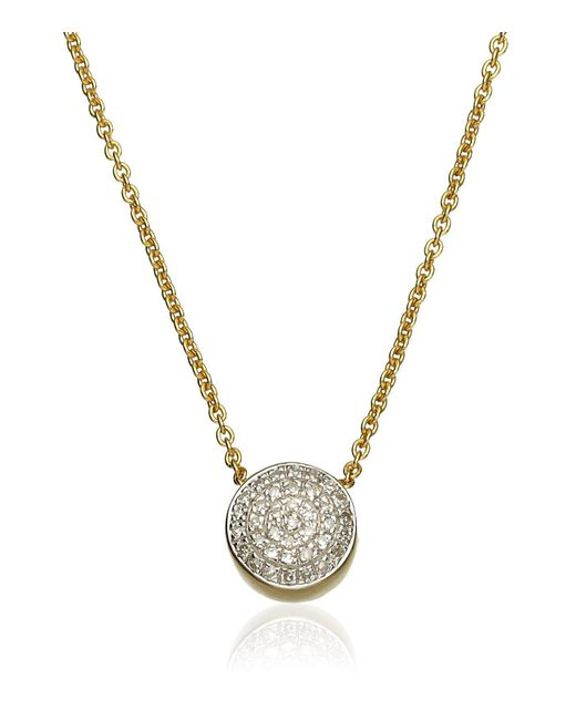 Monica Vinader - Metallic Ava Button Necklace - Lyst