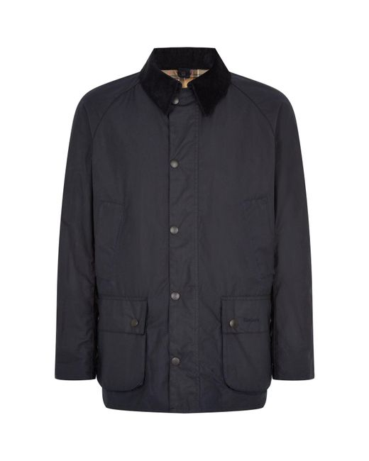 Barbour | Blue Ashby Waxed Jacket for Men | Lyst