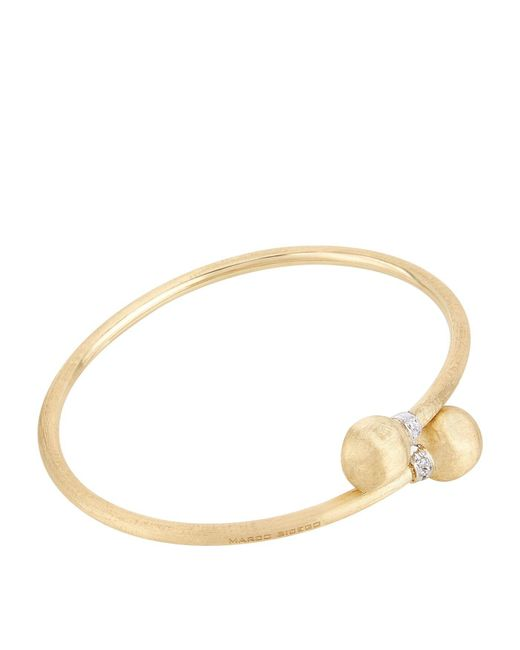 Marco Bicego | Yellow Africa Gold Boule Diamond Bangle | Lyst