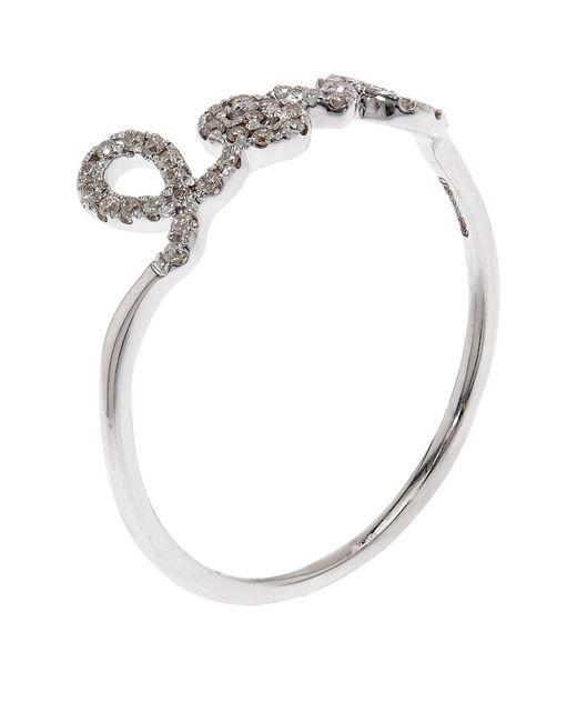 Sydney Evan | White Love Script Diamond Ring | Lyst
