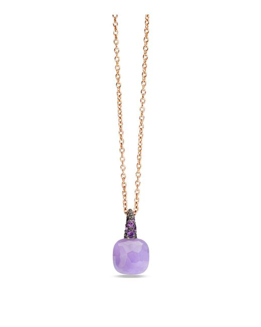 Pomellato | Pink Jade Rose Gold Capri Pendant | Lyst