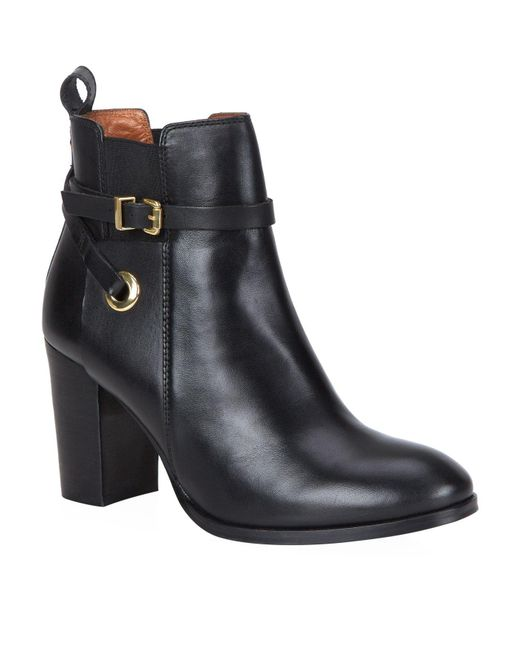 Carvela Kurt Geiger | Black Stacey Leather Ankle Boots | Lyst